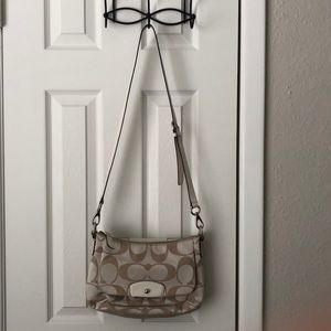 Authentic Coach Cross Body Bag (White)